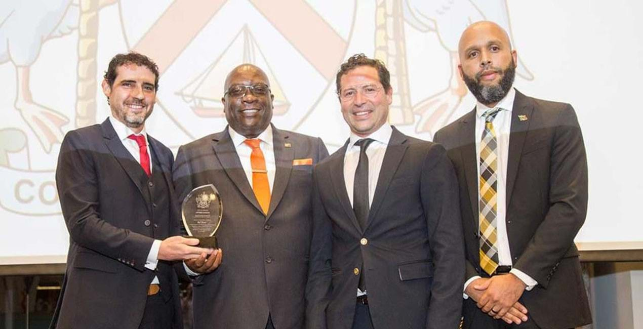 RIF Trust was awarded by Prime Minister of St. Kitts and Nevis